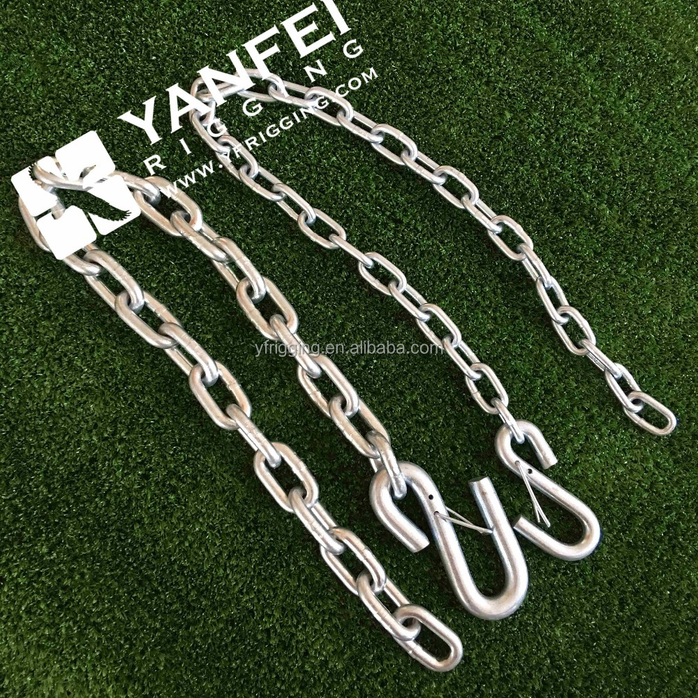 Galvanized Steel Link Chain with S Hooks on Both Ends