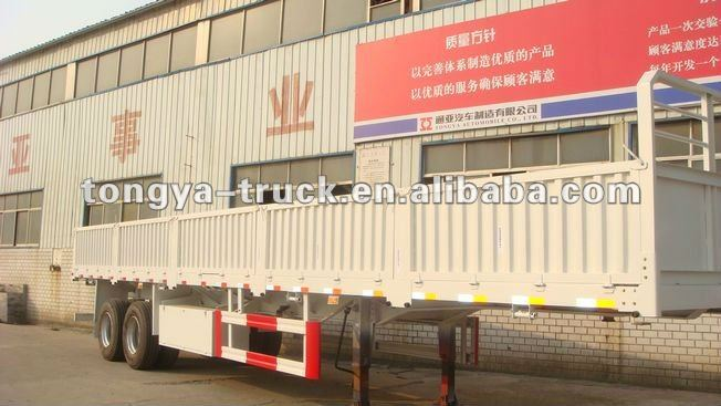 Can Load Container 13.0m Drop Side Truck Trailer for Sale