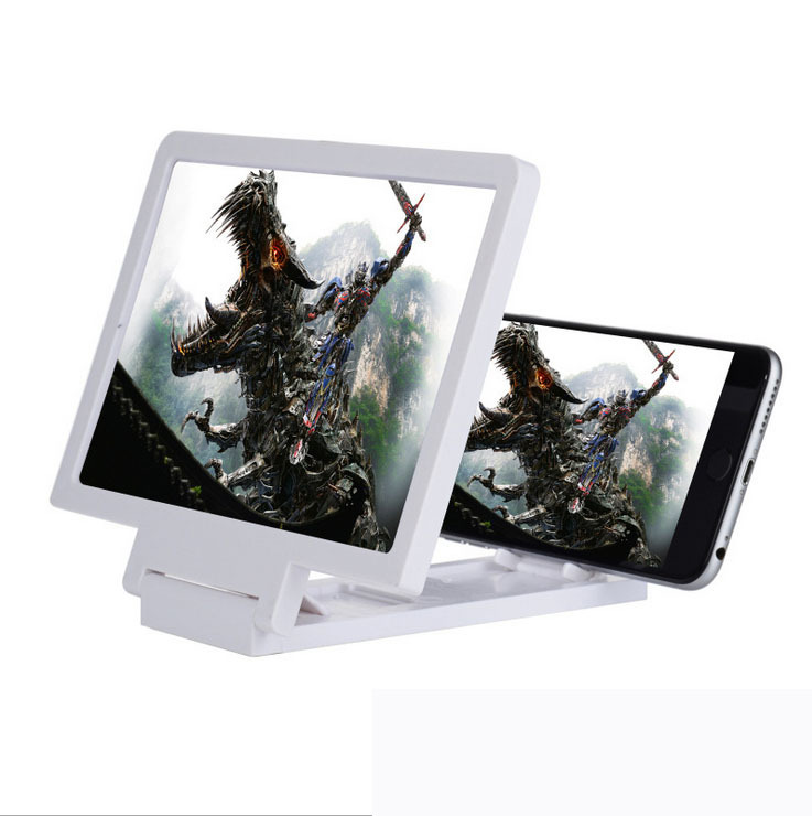Foldable plastic mobile phone screen magnifier with 3x magnifying power