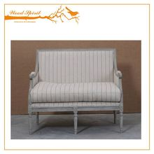 Factory direct sales eco-friendly fashion 2 seater Pictures of wooden sofa set leather cushion designs