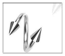 Elegant stainless steel dangle eyebrow ring