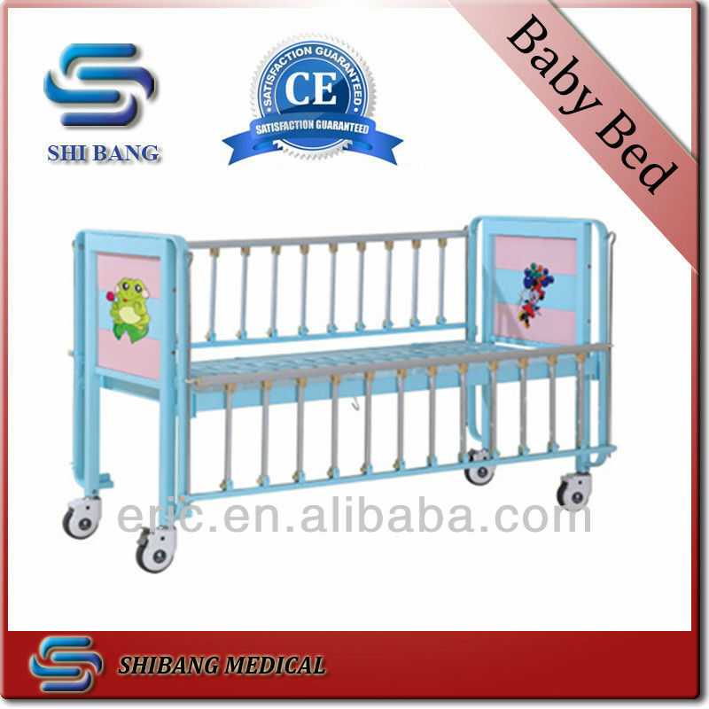 SJ-IB003 CE,ISO Approved iron pediatric hospital bed cradle