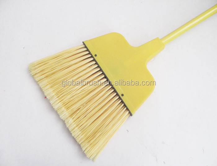 HQ0133A American quality plastic with strong metal handle yellow angle broom