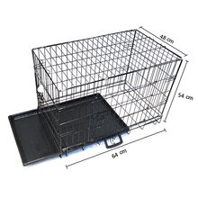 Collapsable double door cheap dog kennels