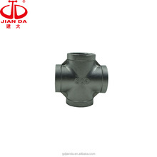 cross tee 4 way stainless steel female cross pipe fitting