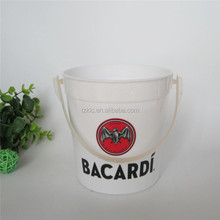 Plastic Bacardi 32 OZ Drink Bucket with straw