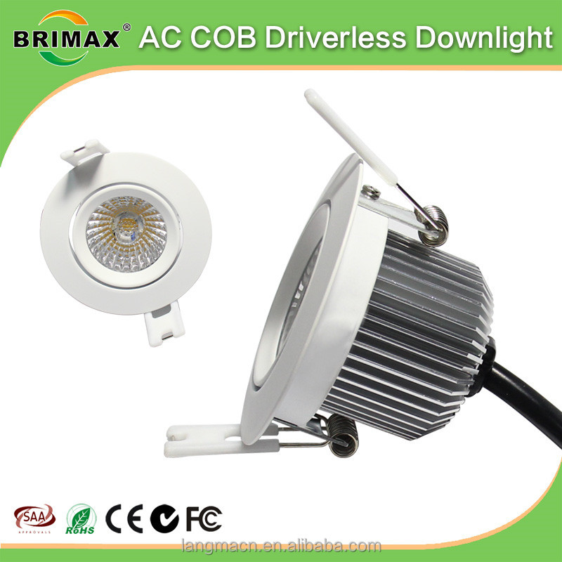 2018 New Arrival Aluminium LED Downlight 6W ceiling led downlight 68mm 3 inch led down light