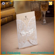 Laser cut cards with butterfly shapes ,butterfly wedding invitation cards