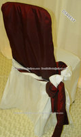 wedding taffeta chair sash for banquet