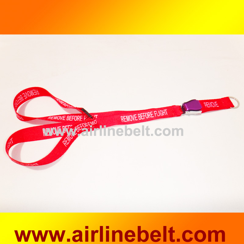 Top classice airline airplane aircraft seatbelt buckle awesome lanyards