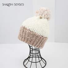 Ladies bulk cuff cap knitted cheap winter hats