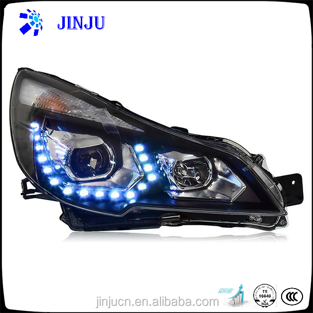 Top Quality front light for Subaru Outback 2010 car LED light auto headlight