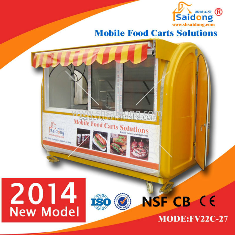 new condition food kiosk cart/fruit stand/street ice-cream cart for hot sale
