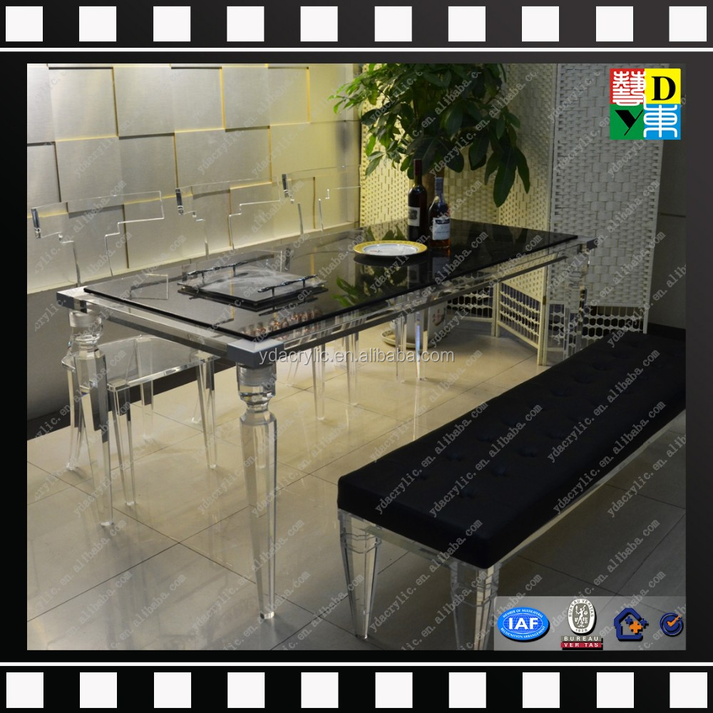 Luxury Design Plexi Glass High Transperant Acrylic Dining