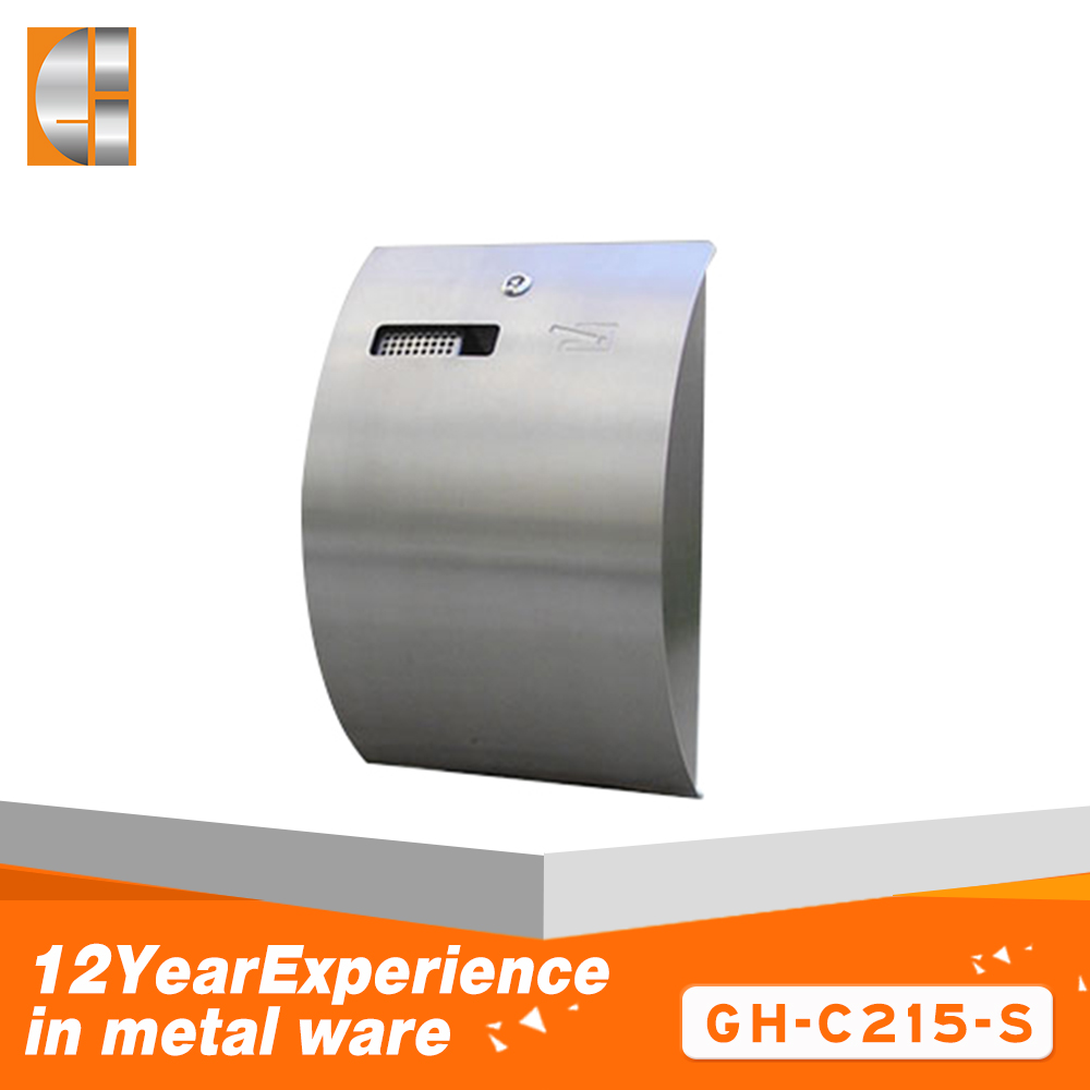 2018 new design wall mounted cigarette ashtray metal bin