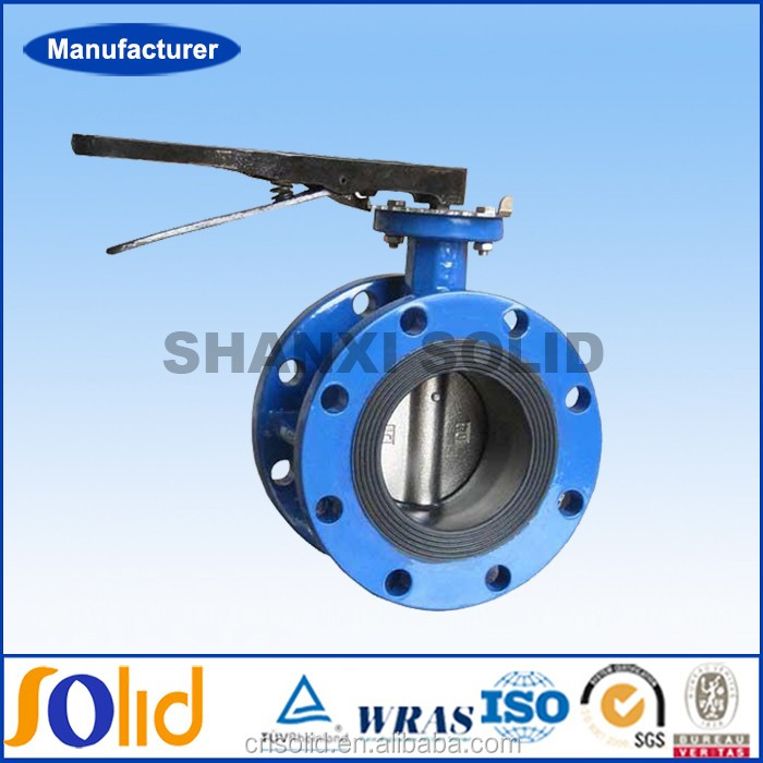 Ductile iron disc type dn150 flanged butterfly valve.jpg