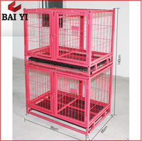 Outdoor Double Iron Fence Dog Kennel / Big Tube Dog Cages