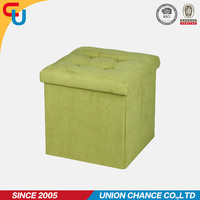 Large Green Ottoman Folding Storage Pouffe Toy Box Foot Stool Seat Home Bedroom