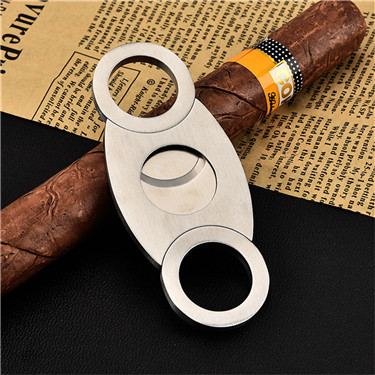 LVHE CC007-CC012 Free Stainless Steel Cigar Cutter Douoble Blade