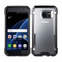 Newest Transparent 2-layer Slip Proof phone case For Sumsung S7 edge