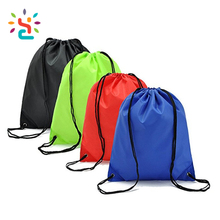 Colorful shopping Untearable tyvek rope backpack bag China custom cheap waterproof nylon polyester cotton drawstring bag