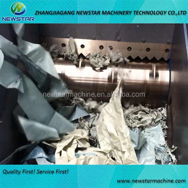 Waste plastic film shredder PE film woven bag shredder