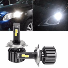 Cheap 12v internal driver H4 Led Headlight Bulbs fan cooling H15 H7 H11 9005 9006 Led Head Light For Car Auto Motorcycle