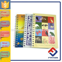 office and school supplies wholesale Lined spiral notebook with bookmark