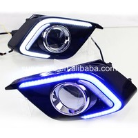 For Mazda 3 AXELA 2014-2016 2 LED strips DRL Daytime Running Light Blue white yellow led