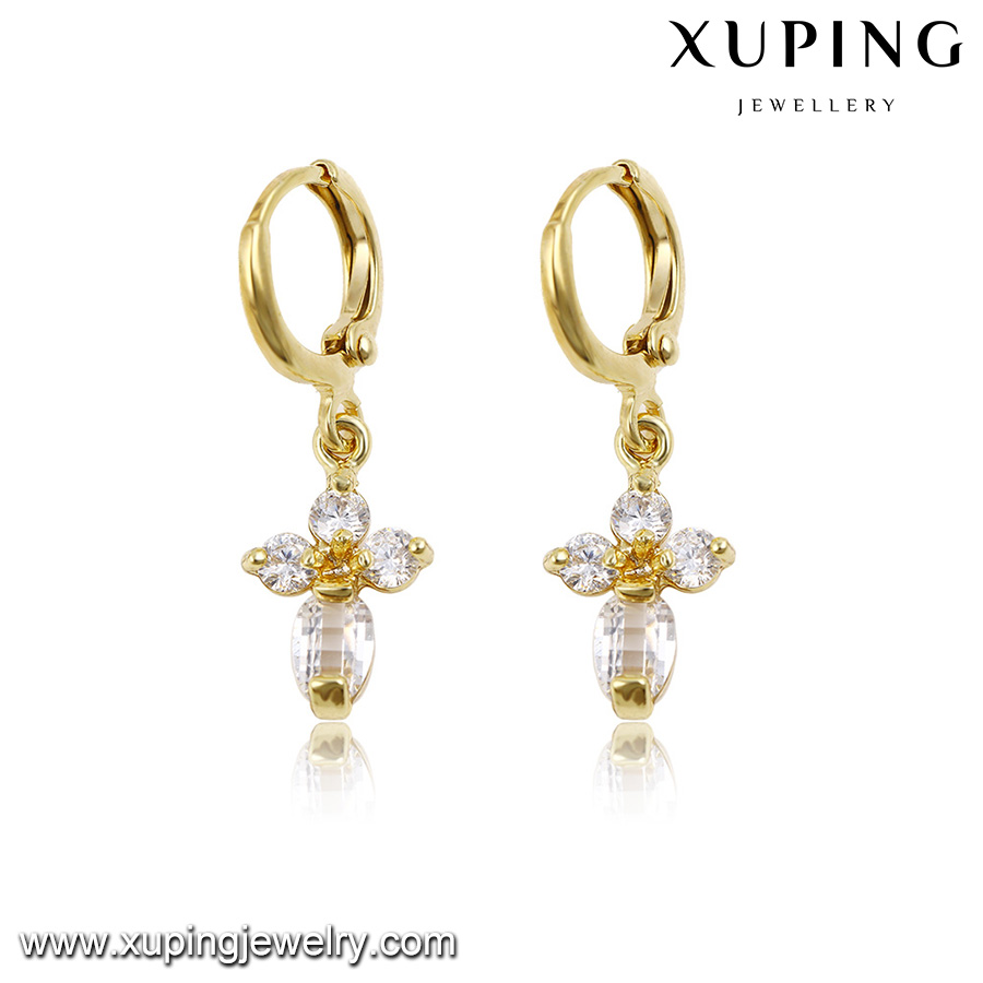 91504-fashion jewelry manufacturer 14k gold cross earrings