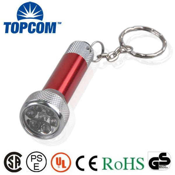 7 LED Keychain light Aluminum led Keychain christmas light keychain