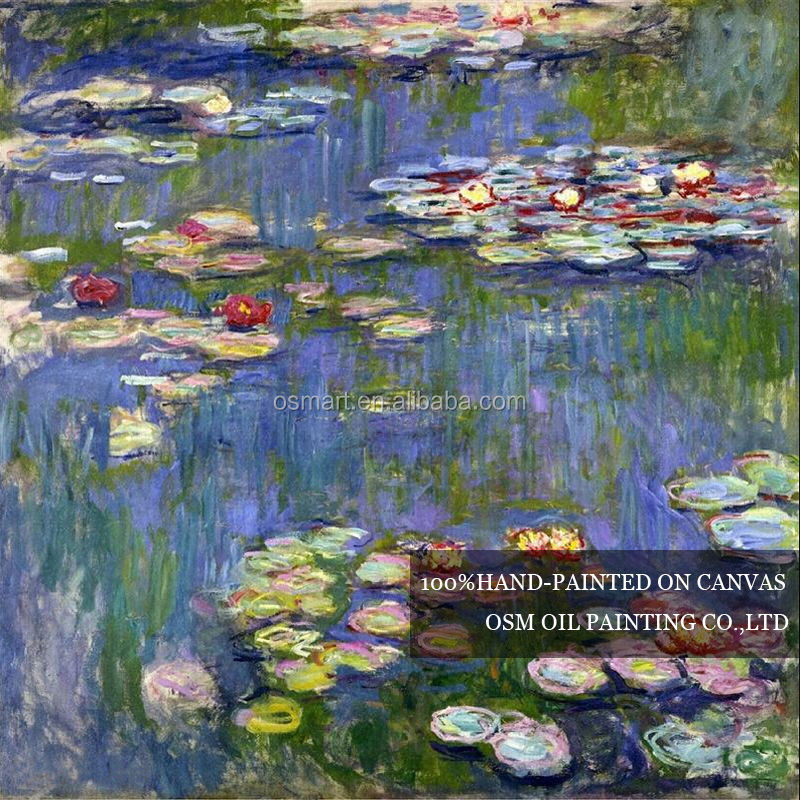 Free Shipping Claude Monet Water Lilies Oil Painting On Canvas Reproduction Impression Landscape Lily Flower Oil Painting