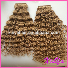 Tangle Free Most Popular 7A Grade Peruvian Real Virgin Jerry Curl Weave Extensions Human Hair