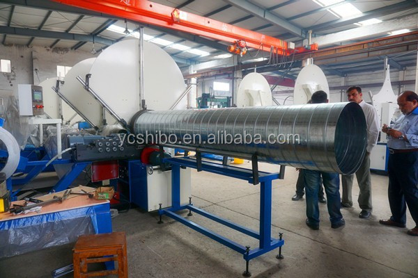 Machine for hvac spiral tube