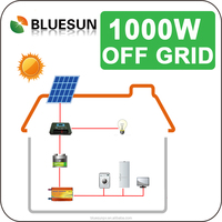 Bluesun easy install factory complete supply off grid 1kw mobile home solar panel system