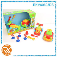 Plastic DIY assembly formula car and cartoon car for children