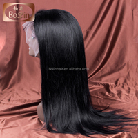 Wholesale Weave and Wigs Silk Straight Human Hair Full Lace Wig 150% Density Indian Women Hair Wig