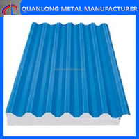 prepainted corrugated metal wall exterior panel