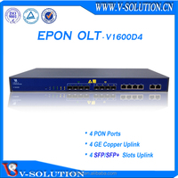 4PON GEPON OLT FTTH Networking Equipment Support L3 Route Function with Cisco Style CLI and Free EMS Management Made in China