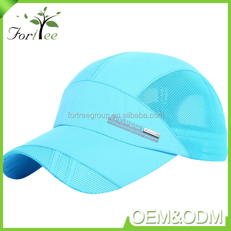 Wholesale promotion logo print embroidery outdoor mesh visor sport snapback baseball cap