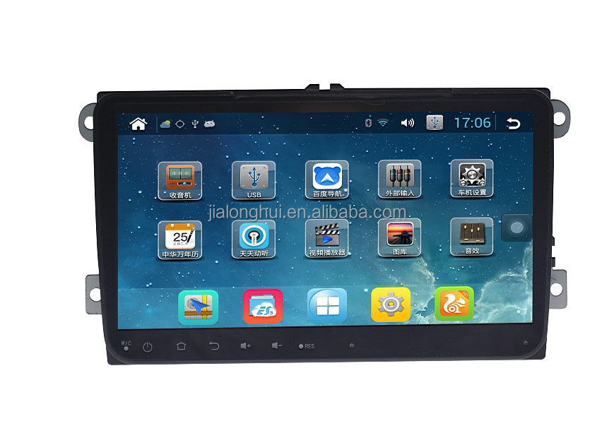 "9""Quad-Core 1024*600 HD Screen Android Radio GPS for Volkswagen Car Audio Stereo GPS Quad-Core 1.6G WIFI 3G CANBUS"