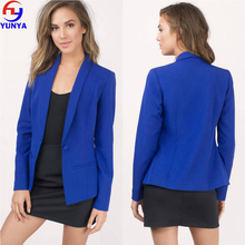 2017 new arrival womens clothing latest design cobalt fitted blazer