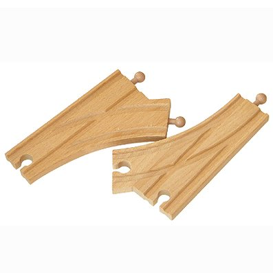 Wooden train track Y Shape track