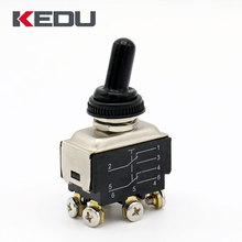 KEDU Screw Terminal Dougble Pole Double Throw Black Toggle Switch with UL TUV CE CQC Approved HY29D