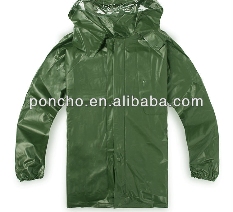 hot sell olive green raincoat