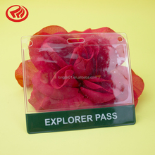 PVC transparent name id clear plastic card holder