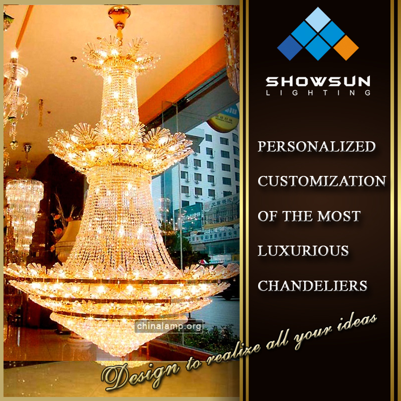 2016 Zhong Shan lighting factory funky crystal large pendant light