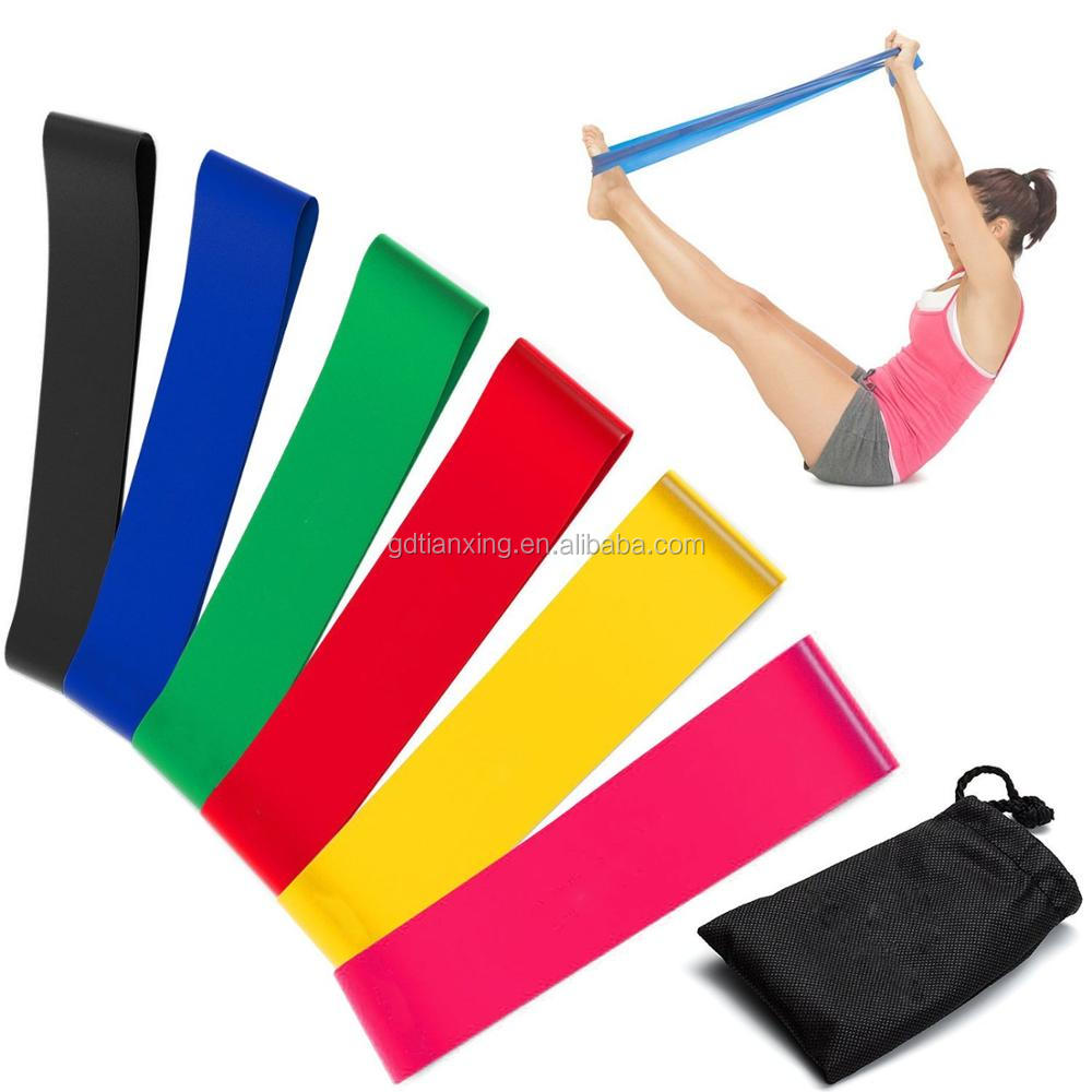 Functional Workout Private Label Latex Exercise Resistance Fitness Loop Band Set