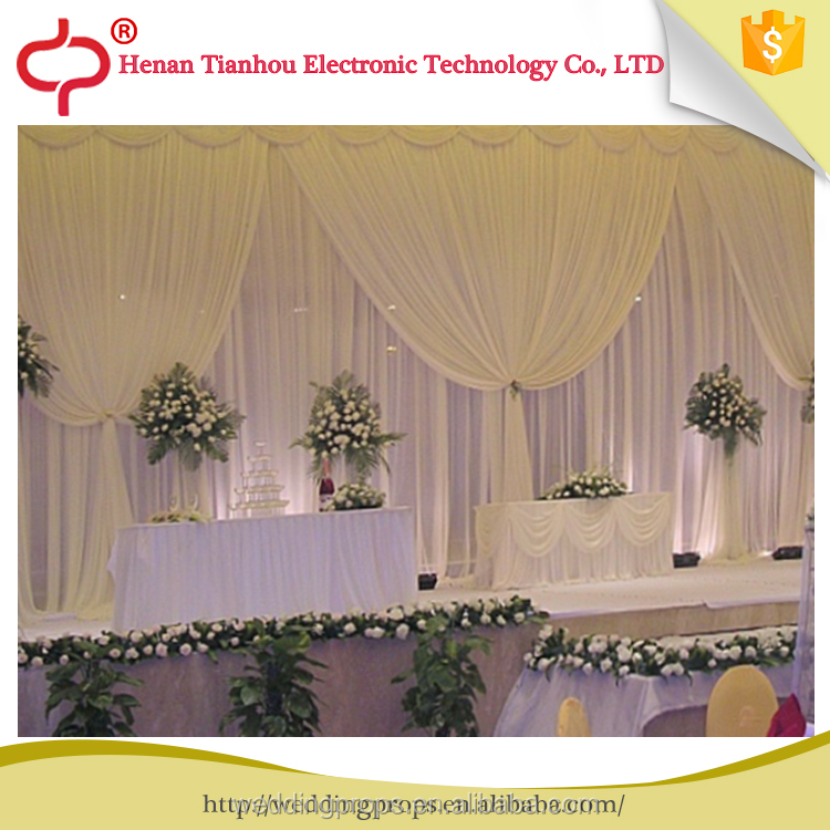 Factory Designed white stage decoration China wedding drapes