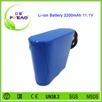 China 12v 2200mah lithium ion rechargeable battery suppliers